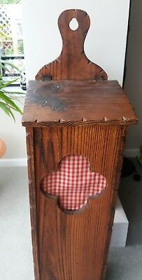 Large French baguette box, Vintage country kitchen wooden bread bin