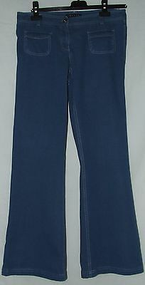 "Theory Womens Designer Low Rise Bootleg Blue Jeans Waist 32"" Size 8"