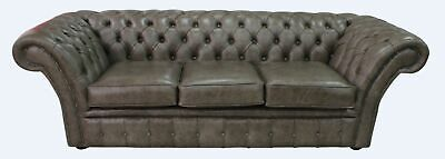 Chesterfield Balmoral 3 Seater Bronx High Plains Leather Sofa Settee