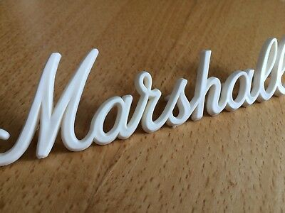 Marshall Small Logo Aged White 150mm