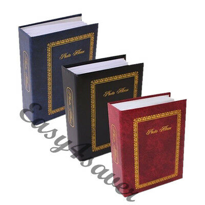 "Tallon 6""x4"" Plain Black, Blue & Burgundy Each Colour Album With 100 Pockets"