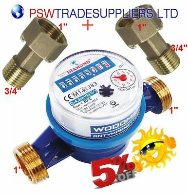 WATER METER ANTI-MAGNETIC  FOR COLD WATER 3/4'' Q3=4m3/h   6 year guarantee!!
