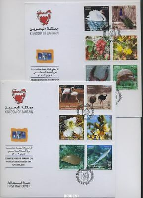 BAHRAIN 2003 Set on 2 FDCs (90768)