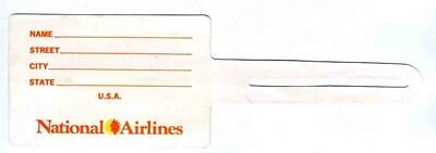National Airlines & Planters Nuts Plastic Luggage Tag
