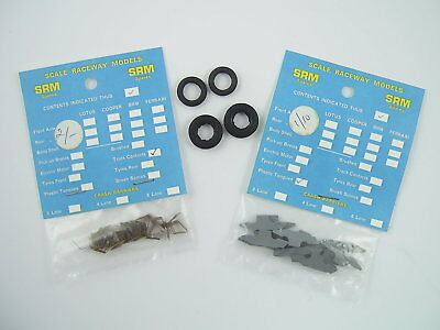 SRM Scale Raceway Models Spares - Track Contacts, Plastic Tongues, Car Tyres