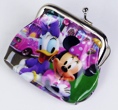 Minnie Mouse & Daisy Duck Coin Purse With Metal Clasp Pouch Bag Pvc Kids Girls