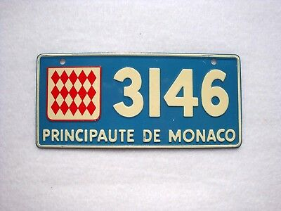 MONACO Wheaties Cereal License Plate # 3146
