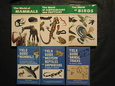 Wildlife Animal Book lot of 6 - Mammals, Birds, Reptiles, Animal Tracks