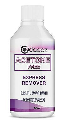 Acetone Free Nail Polish Nail Varnish Remover Use With Acrylic False Nails 50ml