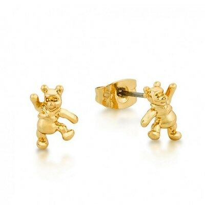 Disney Official 14kt Gold-Plated Winnie the Pooh Stud Earrings | Couture Kingdom