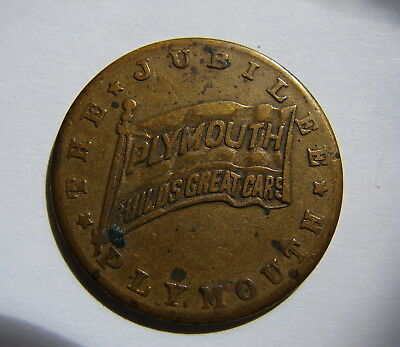 Advertising 10th year Plymouth Builds Great Cars medal coin souvenir 1938