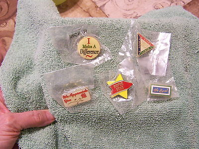 Lot Of 5 Positive Slogans Pins