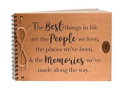 Quote Life Friends & Family  Scrapbook Memory Book Photo Album Christmas Gift