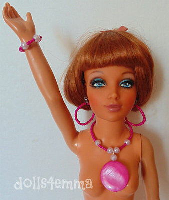 """TIFFANY TAYLOR DOLL JEWELRY Mod Necklace Earrings Bracelet for 19"""" Ideal NO DOLL"""