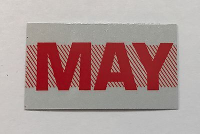 MAY, May, California License Plate Month Registration Sticker, 1970s, 1980s
