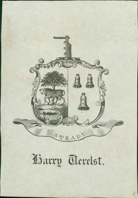 Harry Verelst (colonial governor) Bengal  1767 to 1769 Ex Libris  RL.819