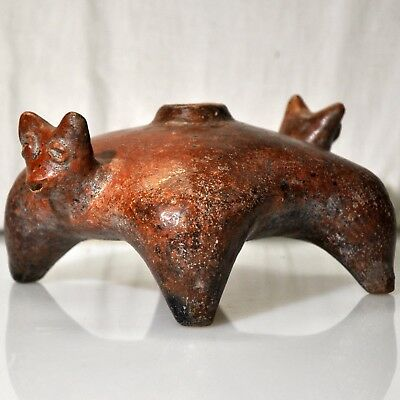 Pre-Columbian Double Headed Canine Vessel Colima Mexico c. 100 BC - AD 300