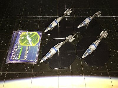 Star Wars Micro Starship Battles Lot X4 Commerce Guild Destroyer 33/60 Machines