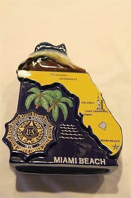 1974 Vintage Ezra Brooks American Legion National Convention Miami Decanter