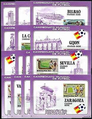 Spain 1982 World Cup Football Soccer 14 Sheets Imperf  Mnh Rare!