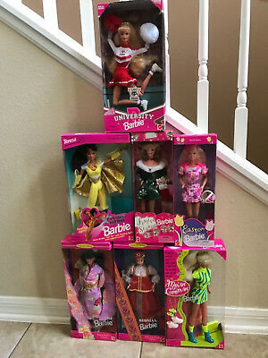 Lot of 7 NEW Vintage Barbies