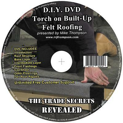 Torch on Felt DVD. Showing Full 3 Layer Application AND Repair Procedures + MORE