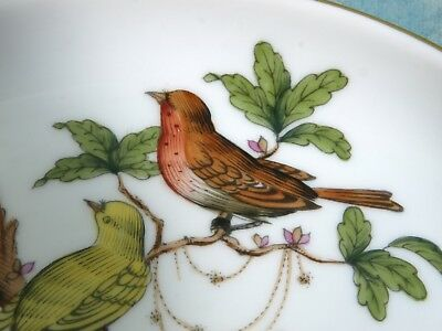 Rare Herend Porcelain Hungary Rothschild Bird dish tray ash