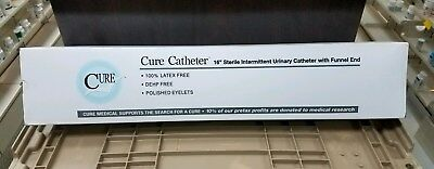 Cure Straight Tip Male Catheter ''16 Fr., 16 Inch, Box of 30''  FUNNEL END