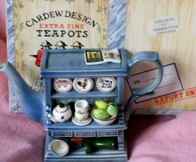 Paul Cardew farmhouse Welsh  dresser limited edition  teapot Collect it boxed