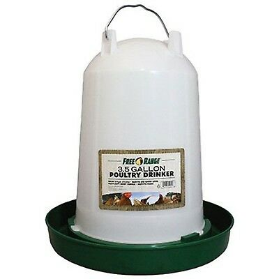 Harris Farms 4221 Plastic Poultry Water Fountain 3-1/2-Gallon 3.5 Gal New