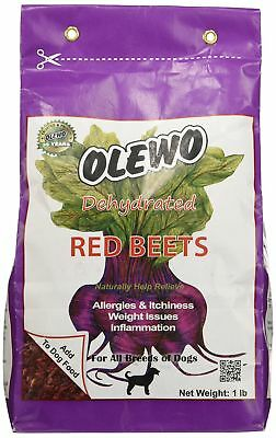 Olewo 24101 1-Pound Dehydrated Red Beets Dog Food Supplement 1 Pound New