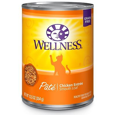 Wellness Complete Health Natural Canned Grain Free Wet Cat Food Chicken P... New
