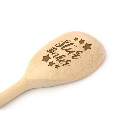 Star Baker Wooden Baking Spoon   Engraved Novelty Gift