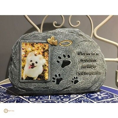 Pet Memorial Stones Personalized Picture Frame Garden Ornament Gifts Headstones