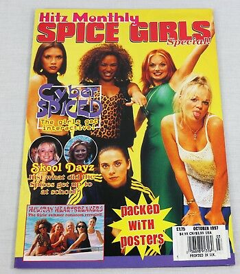 Spice Girls Hitz Monthly Unofficial October 1997 Collectors Oversized Magazine