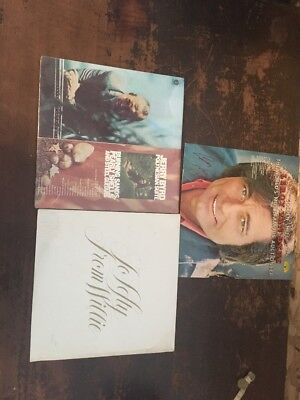 Lot Of Three Country Vinyls Jeery Byrd Willie Nelson Leroy Van Dyke SIGNED