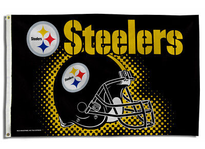 ffb322b5 PITTSBURGH STEELERS FLAG 3'x5' Nfl Helmet Banner: Free Shipping