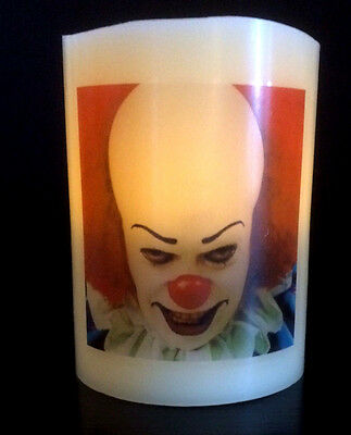 IT Pennywise ELECTRONIC FLICKERING CANDLE flameless CLOWN
