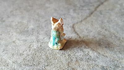 Small Ancient Egyptian Faience Amulet of BASTET, Late Period To Ptolemiac Period
