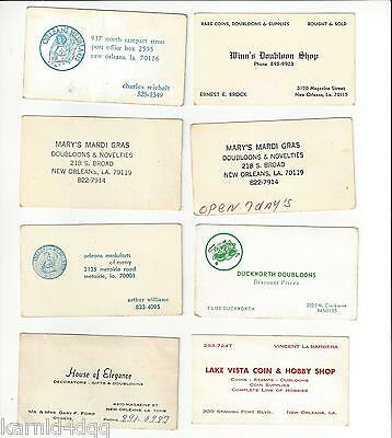 Vintage MARDI GRAS DOUBLOONS MEDAL ARTS BUSINESS CARDS NEW ORLEANS COINS HOBBY