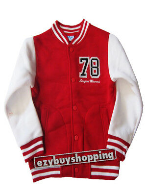 No.78 Varsity Baseball Red Fleece Winter Boys Jacket