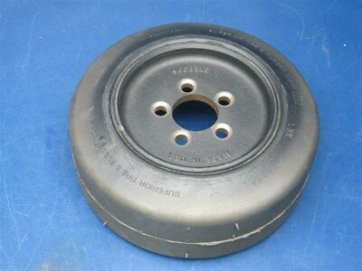 "Superior Tire & Rubber 10"" x 4"" x 6.5"" Solid Rubber Forklift Wheel & Tire"