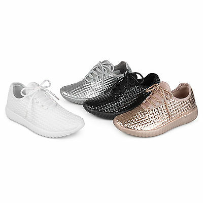 f25ba95e4f62d BRINLEY CO WOMENS Faux Leather High top Lace up Laser cut Sneakers ...