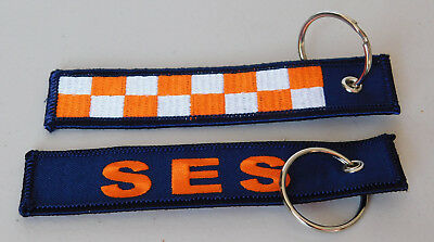 Ses Woven Cloth Keyring / Holder  Size 125Mm X 25Mm With Split Ring Recsue