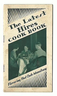 1920's Advertising Promotional Cookbook Latest HIRES Cook Book Root Beer Extract
