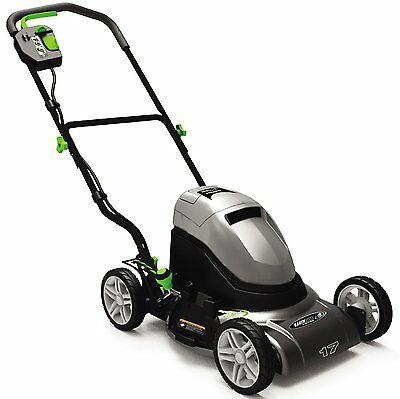 "Earthwise 60217 17"" Side Discharge/Mulching Cordless Electric Lawn Mower NEW"
