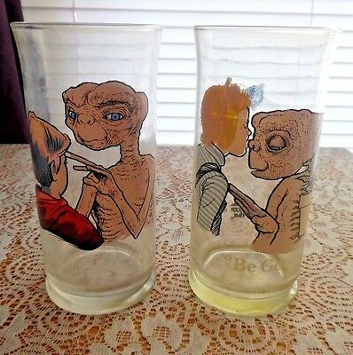 "2 Each Pizza Hut Limited Edition ""E.T."" Glasses, I'll Be Right There & Be Good"