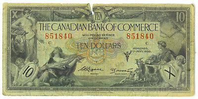 The Canadian Bank of Commerce $10 Ten Dollars 1935 Small Size Chartered Banknote