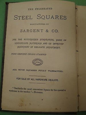 1890 Book Steel Squares and Their Uses by Fred Hodgson