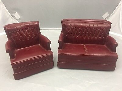 Vintage Sindy Doll Furniture Couch And Chair Set From Louis Marx, 1978 Toy